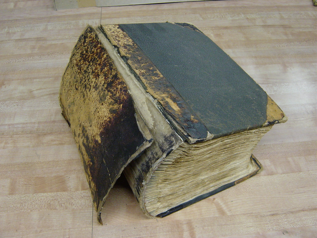 Repair Old Book Cover : Book restoration before and after